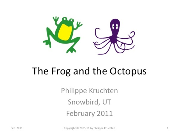 Title: the frog and the octopus